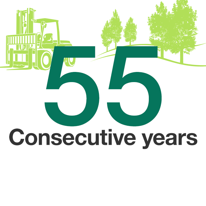 50 Consecutive years